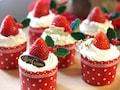 ホットケーキミックスで簡単、クリスマスカップケーキ