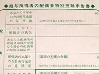 記入のツボシリーズ第2弾 配偶者特別控除申告書記入のツボ