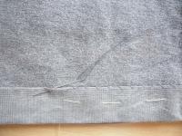 ズボンの色に合わせた糸を選んでくださいね