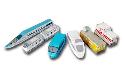 無料ダウンロードできる電車のペーパークラフト