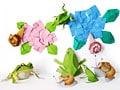 梅雨の無料ペーパークラフトと折り紙