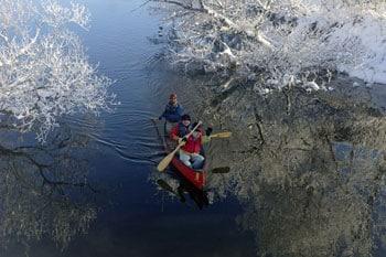 釧路湿原で体感!幻想的な真冬のカヌー