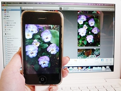 iPhoneで撮影した写真をMacBookに取り込むことも簡単です