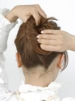毛先までしっかりねじることで毛先が入りこみやすくなる