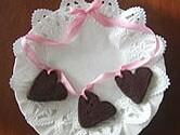 バレンタインにハート型クッキーペンダント