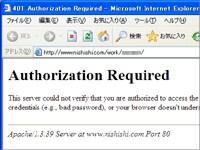 401AuthorizationRequiredエラーページ