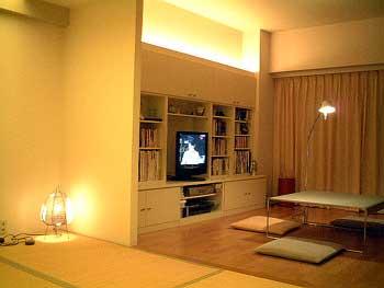 照明住宅実例:間接的な光を楽しむ照明リフォーム