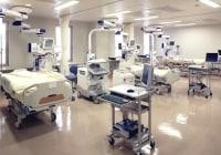 集中治療室。ここで心筋梗塞の本格治療ができます