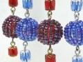 ビーズボールのロングイヤリング