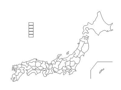 地図の素材 [Web素材] All About : 白地図 都道府県 : 白地図