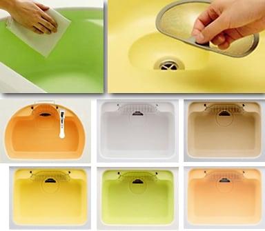 カウンターとシンクのポイントリフォームをすれば掃除がしやすくなるだけでなく、デザインも楽しめる(ヤマハリビングテック)