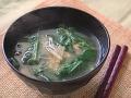 モロヘイヤの味噌汁