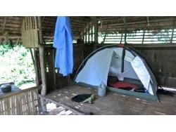 テントの便利な利用法