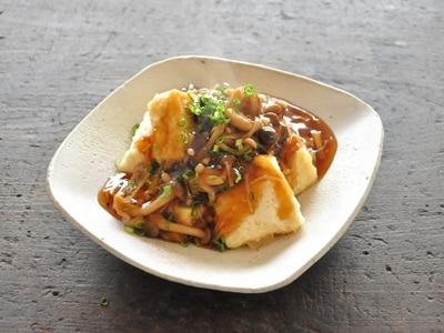 体が温まる冬おかず!揚げだし豆腐のきのこあんかけ