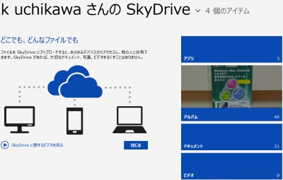 SkyDriveアプリ