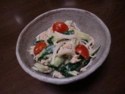 新玉ねぎのツナきゅうりサラダ