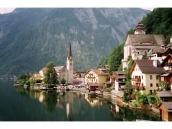 美しいオーストリア世界遺産の町、ハルシュタット