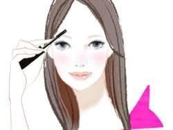 黒髪に合う眉毛の色とメイクの仕方を教えてください