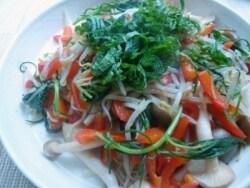 おかひじきの野菜炒め