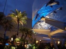 南国リゾート気分のライトアップ!サンシャイン水族館