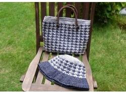 夏の編み物 アンダリアのバックと帽子