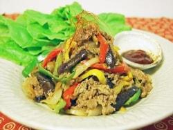 フライパンで作る、夏野菜たっぷりプルコギ