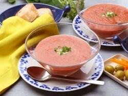 トマトの冷製スープ、ガスパチョの簡単時短レシピ