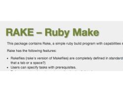 RubyのMake、Rakeの使い方