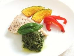 かじきと野菜のソテー ジェノバ風ソース