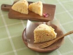 お花見のおやつに ボウルひとつで出来る桜蒸しパン