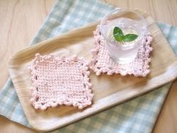 初夏のおもてなし~アフガン編みのコースター~