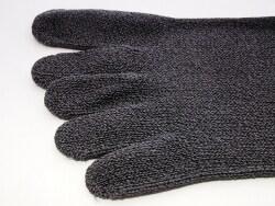 熊笹を混ぜた和紙を使った靴下は蒸れず臭くもならない