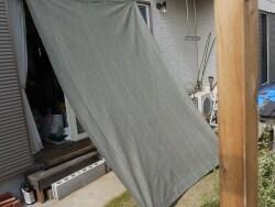 オーニング風サンシェードの取り付け方