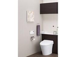 【新商品】快適空間&掃除も楽なキャビネット付トイレ