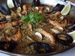 バルセロナのシーフードレストラン