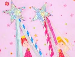 紙ストローで作った魔法の杖で妖精に変身!