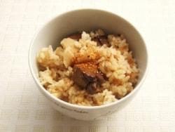 レバーと生姜の炊き込みご飯