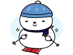 スノボ、雪合戦…ウインタースポーツのイラスト集