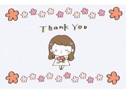 送別・感謝のメッセージ・グリーティングカード素材