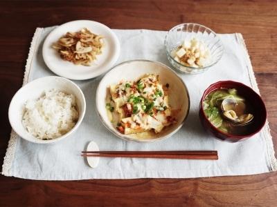 時間別一汁三菜定食レシピ10選 20分で出来る厚揚げのとろーりキムチーズ焼き定食の画像