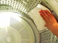 湿気をしっかり取り除いて。これでしばらく気持ちよく洗濯ができます!