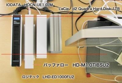 4モデルの奥行きを比較。バッファローのモデルは最も長い(クリックで拡大)