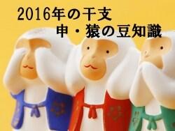 2016年(平成28年)の干支~申・猿の豆知識