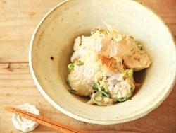 里芋とねぎの醤油マヨ和えサラダ