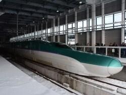北海道新幹線試乗会レポート! 雪景色の中を快走