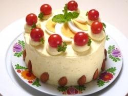 見た目はケーキ、中身は野菜!野菜サラダケーキレシピ