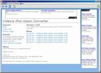 「Videora iPod Converter」トップ画面