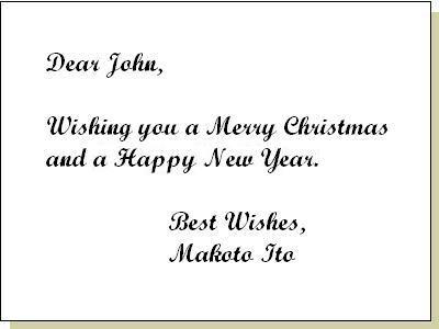 クリスチャン向けのクリスマスカード