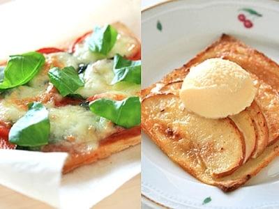 サンドイッチパンで簡単クリスピーピザ2種