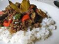 夏のパワフルランチ・夏野菜のドライカレー